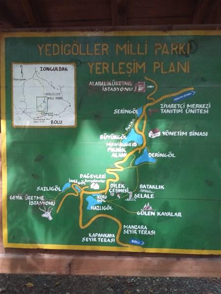 Yedigöller haritası