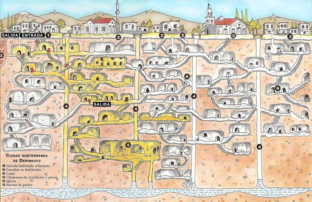 Derinkuyu haritası